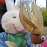 Blätter Karl entdeckt Blättervogel
