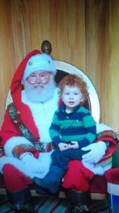 5555Kind mit Weihnachtsmann